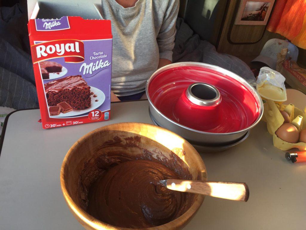 preparado royal bizcocho chocolate receta horno omnia